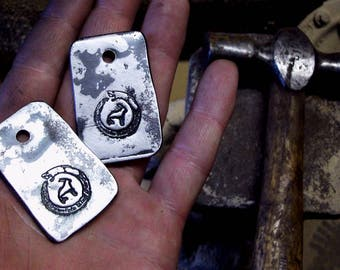 Mountain King Forge dog tags, official merchandise, Blacksmith
