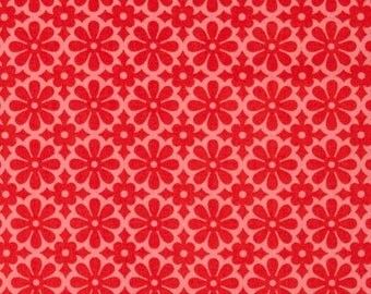 Heather Bailey for Free Spirit - GINGER SNAP - Snapdaisy in Red - By The Yard