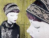 RESERVED for JEN Flapper Headband, Bohemian Clothing, Gypsy Headband, Burlesque Headband, Belly Dance Headband, 1920s Headband