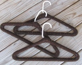 Yarn Covered Clothes Hangers
