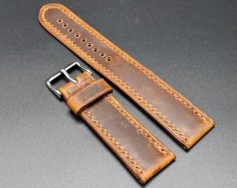 Watch Strap - Vintage Brown 22/20