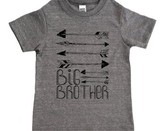 Big Brother Arrows Kids T Shirt - Baby and Toddler Boys' Clothing - Boys Archery Graphic Tee - Boys Big Brother Top - Toddler Boys Shirt