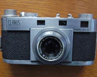 Clarus Model-35 35mm Rangefinder Camera with Wollensak 2 Inch f2.8 Velostigmat Lens