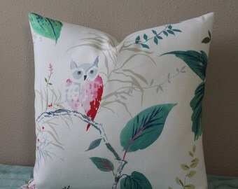 "Kravet - Owlish Print designed by Kate Spade(TM) in Multi - 16"" - 24"" Square Sizes - Decorative Designer Pillow Cover"