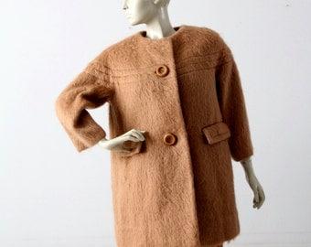 vintage 60s mohair swing coat
