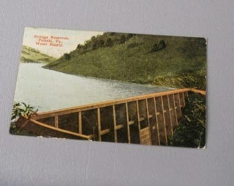 Vintage 1916 Postcard Storage Reservoir Pulaski Va Water Supply