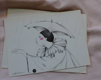Pierrot in the Rain / 1978 / Joyce Panos