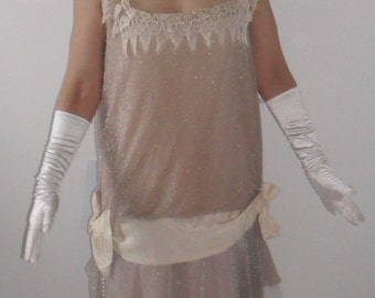 1920s Flapper Dress - handmade vintage