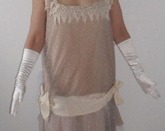 1920s style Flapper Dress - handmade vintage