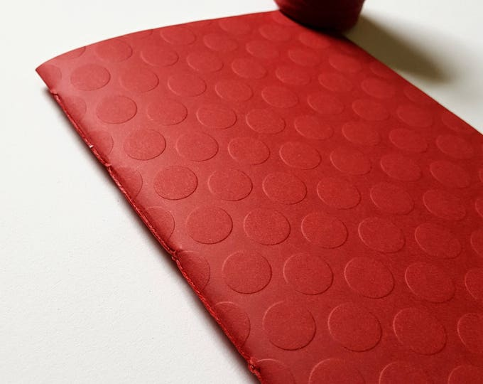 Goals Journal - Motivation Journal - Exercise Journal - Red Dots Textured Cover - Journal - Jotter