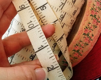 Fabric Trim Measuring twill tape print 5/8 inch wide by the yard