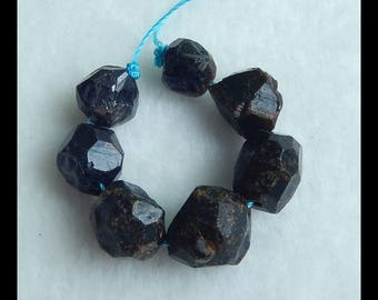 Natural Garnet Gemstone Loose Beads,1 Strand,12x10mm,8x7mm,11.4g(e0283)