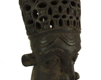 Bamun Helmet Mask Lattice Headpiece Cameroon African Art 104199
