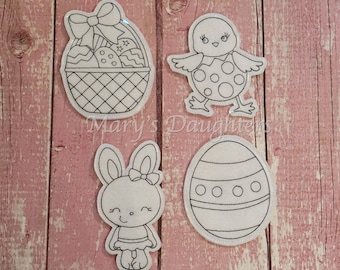 Easter Coloring Dolls