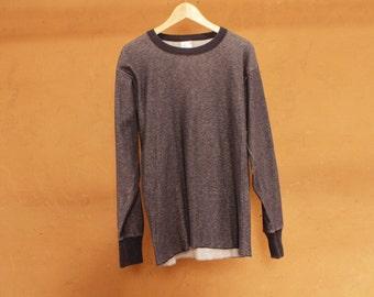 vintage basic NAVY BLUE thermal long sleeve GRUNGE shirt