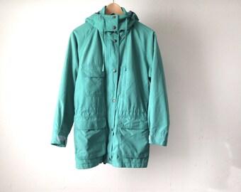 WOOLRICH style vintage PARKA pacific NORTHWEST style toggle waist Rain jacket