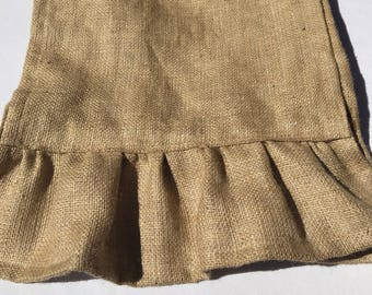 Burlap Table Runner, Ruffle Runner, READY to SHIP,  Home Decor, Party, Shower, Custom Sizes Available