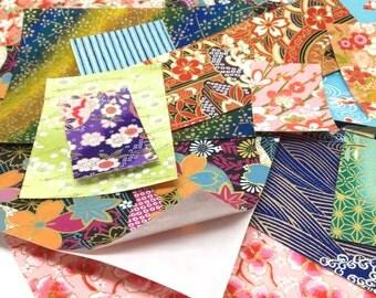 Sticker Washi SAMPLE PACK - Assorted Adhesive-back Chiyogami Yuzen Japanese Paper