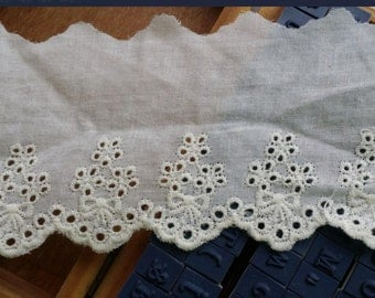 Sale 5 Yards Off White Cotton Lace Trims Lace Fabric 2.36 Inches Wide