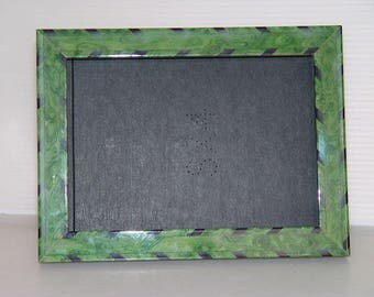 Picture Frame-Marbled Green Shiny Finish-8 x 6 inches-