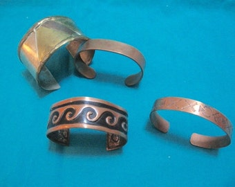 Copper bracelet collection