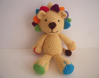 Crocheted Stuffed Amigurumi Plushie Toy Lion