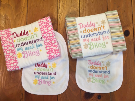 Baby Burp Cloth With Funny Expression Saying: Baby Girl Bib And Burp Cloth Funny Bib And Burp Clith Baby