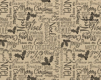 Merry Christmas Wrapping Paper - SPS1387 Christmas - Gift Wrap - Kraft Wrap - Kraft Wrap  - Scrapbooking - Party Supply