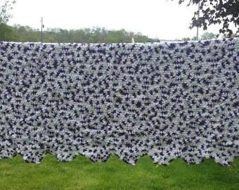 Afghan, Crochet, Crocheted, Handmade, Blanket, Purple White Cream, Granny Square