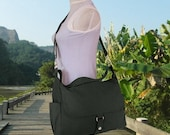 Fathers Day Sale 20% off black messenger bag, shoulder bag for girls, school bag, diaper bag