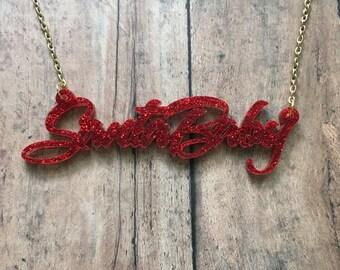 Santa baby necklace