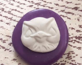 Baby Owl face flexible silicone mold