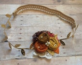 Sale Autumn holiday couture headband , Baby girl headband , child headband , couture headband