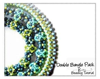 Beading Pattern Beading Tutorial RAW CRAW Beaded Bangles Skinny Bangles Beading Instructions Handmade Jewelry Beadweaving Instructions TAKE2