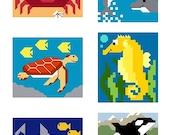 6 Mini Sea Creatures