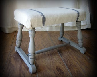 Farmhouse Style Stool~Foot Rest~Bench