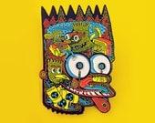 """Head of Bart 2.5"""" Enamel Pin"""