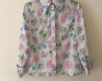 1970's Funky floral shirt