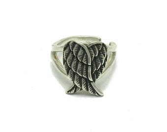 Sterling silver ring solid 925 angel wings pendant