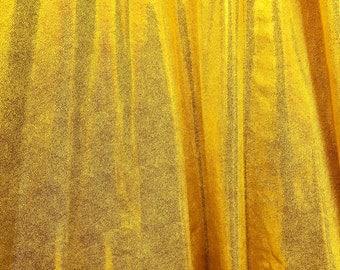 4-Way Stretch Mystique Metallic Spandex Fabric - Yellow
