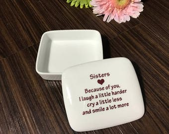 SALE Unique Gifts for Sister | Sister-Birthday-Gift | Gifts-for-Sister | Wedding Day gift to Sisters from my Charleston, SC Studio