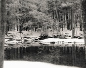 Big Deep swimming hole, 8x10 fine art black & white photograph, nature
