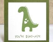 Kids Dinosaur Valentines- School Valentines- Classroom Valentines - Boys Valentines- Mini Valentine Cards