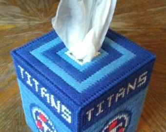 Titans Plastic Canvas Tissue Box Cover