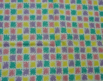 """Vintage Feedsack Fabric, Huge Still a Sack 36 x 44"""" (when opened) Lovely Pastel Colors"""