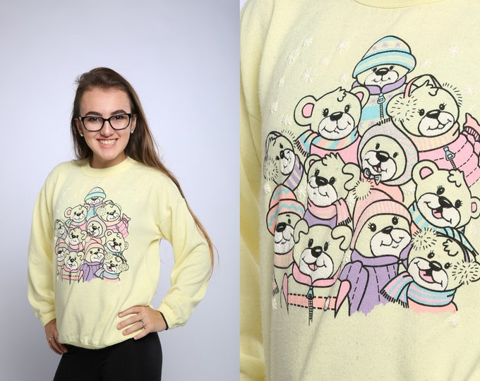 Youth 10/12 Soft Yellow Vintage Sweatshirt 1980s | 16X