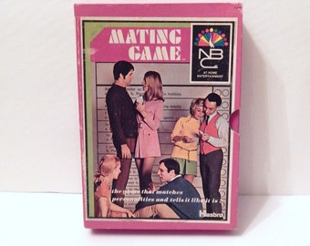 Vintage Game - Mating Game - Vintage Hasbro - Old Board Game - Newlywed Game - Party Game