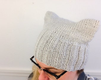 IN STOCK- Grey Pussy Hat