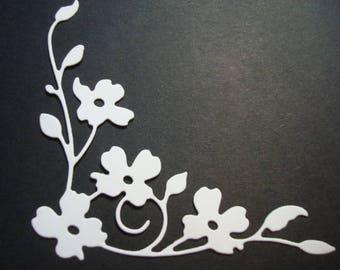 Fustellato Angolo Fiore, 10pz Fustellato in Cartoncino. Ideale per decorazioni o scrapbooking.