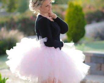 "Light Pink Adult Tutu Waist 35"" to 40""  great for Mommy & Me photos, birthdays, dance, brides and bridesmaidsand bachelorette parties"